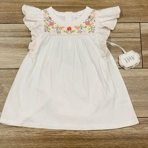 Nordstrom Baby Flutter Sleeve Dress NWT! Size 6M